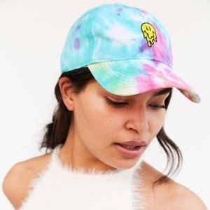 UO - Acid Trip Melted Smiley 90s Tie Dye Hat